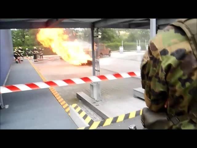 «Demo15»: Rettungstruppen in Wangen an der Aare am Werk