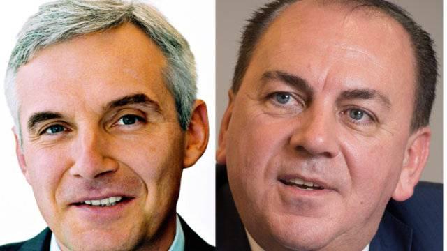 Europäische Toprverdiener: CS-Präsident Urs Rohner links mit 5,2 Millionen und UBS-Präsident Axel Weber mit 3,5 Millionen.