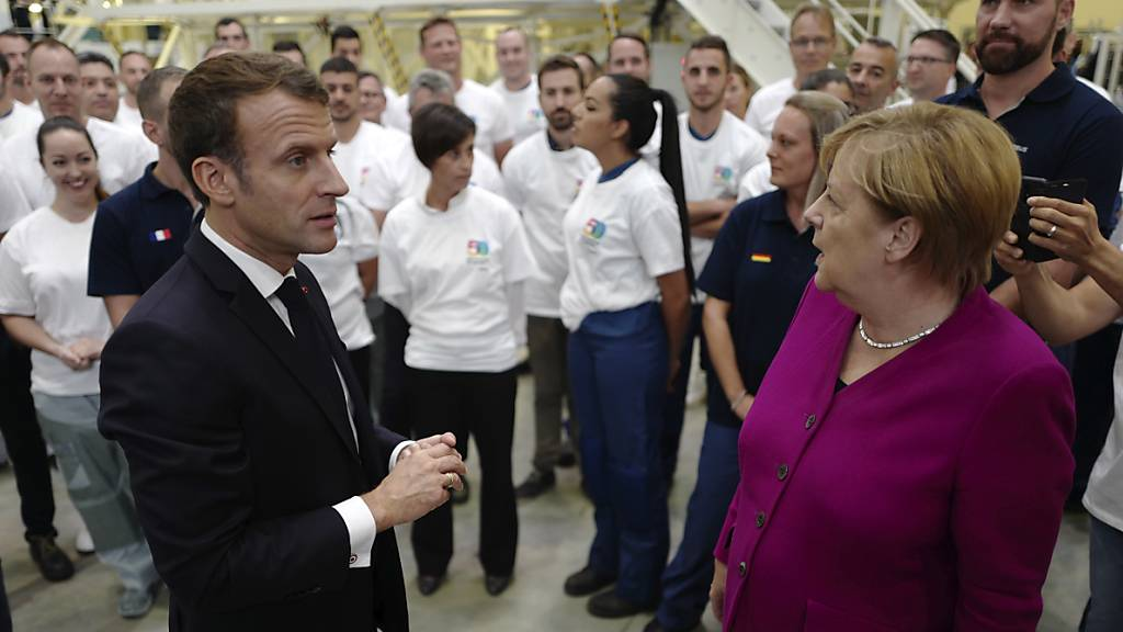 Merkel und Macron stellen sich in Toulouse hinter Airbus