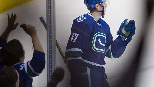 Sven Bärtschi traf erstmals für die Vancouver Canucks