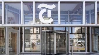 Blick auf das Logo am Eingang der Tamedia AG in Zuerich, aufgeommen am Dienstag, 12. Maerz 2019. (KEYSTONE/Ennio Leanza)