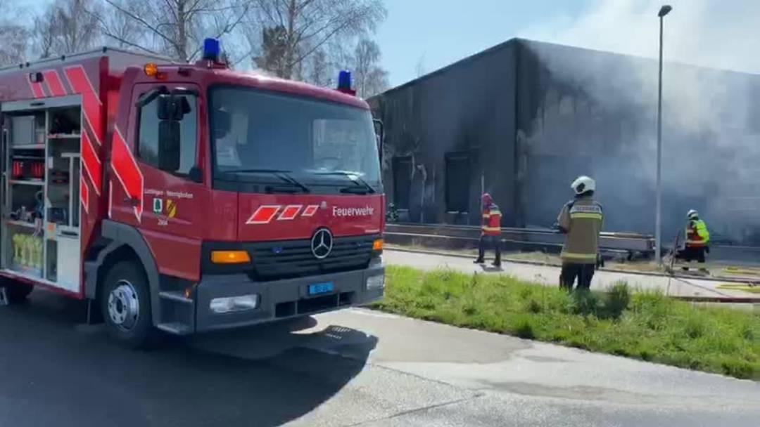 Brand in neuerem Industriegebäude in Lüsslingen-Nennigkofen