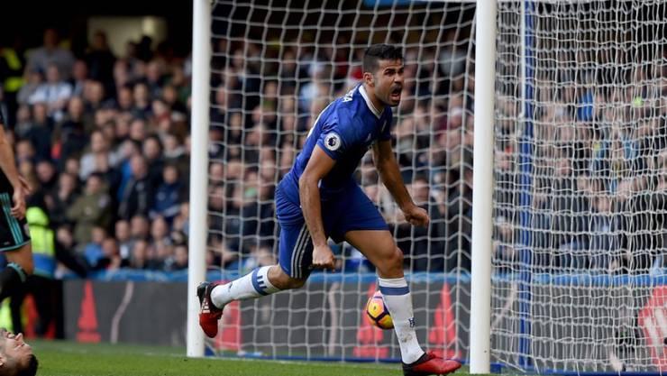 Diego Costa sorgte beim Sieg Chelseas gegen West Bromwich Albion wieder einmal für die Differenz