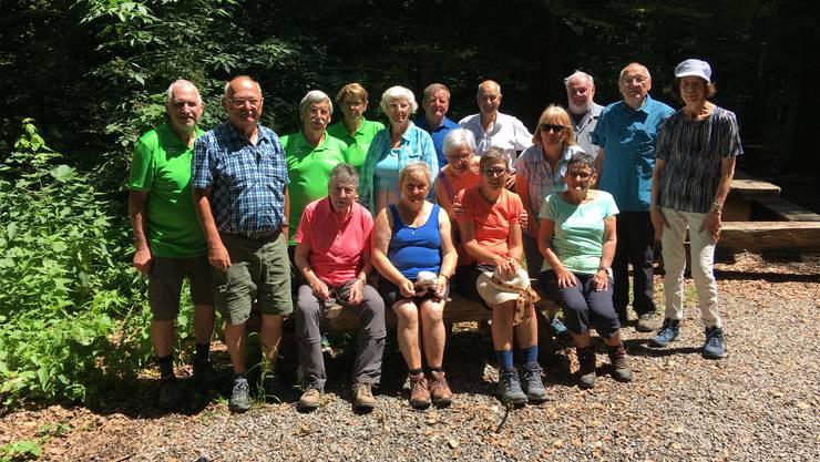 Senioren der Naturfreunde Kanton Solothurn auf der jährlichen Seniorenwanderung