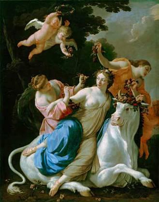 Simon Vouets «Der Raub der Europa» aus dem Jahr 1640