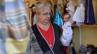 Figurenspieltherapeutin Corinne Michel-Kundt in ihrer Ausbildungsstätte und Praxis in Olten.