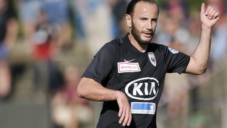 Shkelzen Gashi will beim FC Aarau unbedingt ein Anführer sein und für die zahlreichen Talente eine Vorbildfunktion übernehmen.