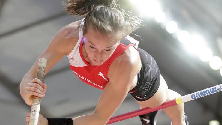 Nicole Büchler übersprang in Potsdam 4,66 m - ein Zentimeter mehr als ihr eigener Schweizer Rekord