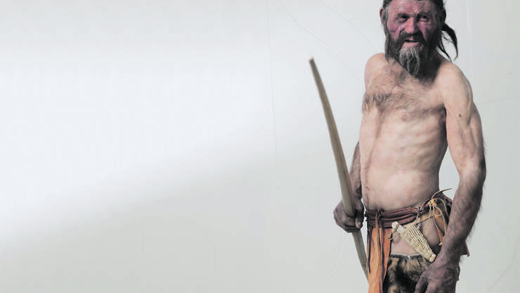 So könnte der steinzeitliche Ötzi ausgesehen haben, dessen Leiche Wanderer 1991 beim Tisenjoch (Italien) auf 3200 Metern über Meer fanden.