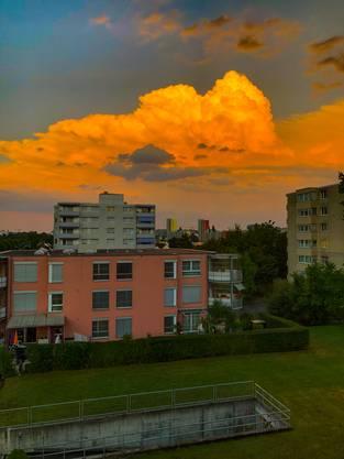 """Wetter-""""schauspiel"""" über Solothurn vom Balkon..."""