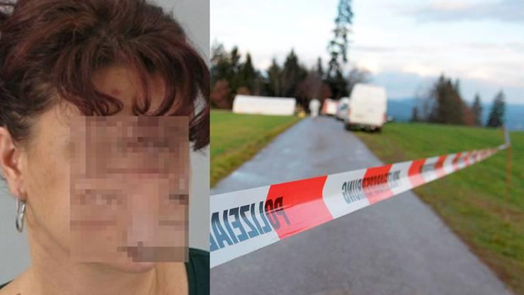 Die Leiche der Frau wurde an einem Waldrand unweit der Schweizer Grenze gefunden.