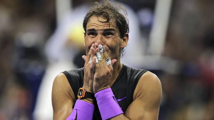 Rafael Nadal gewinnt zum vierten Mal die US Open (AP Photo/Charles Krupa).
