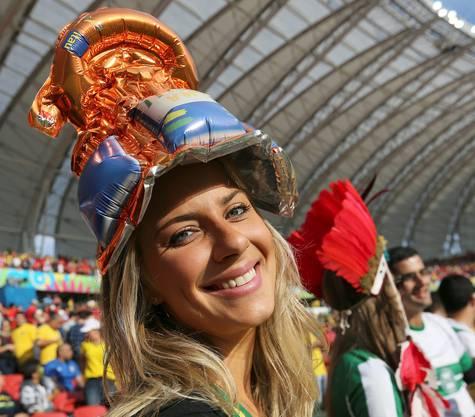 Sie jubelt für Algerien.