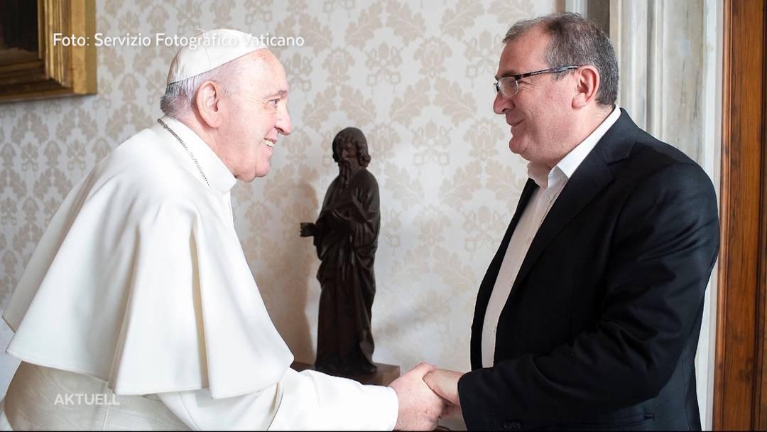 CVP-Politiker macht bei Besuch beim Papst auf Gewalt gegen Frauen aufmerksam
