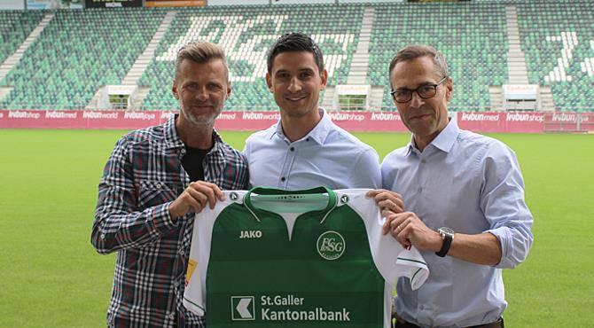 Mittelfeldspieler Moreno Costanzo kehrt nach neun Jahren zum FCSG zurück, vorher spielte er beim FC Thun. (© FC St.Gallen)