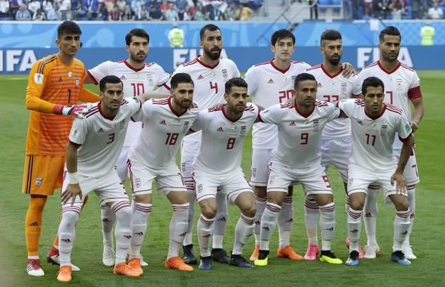 Die Startelf des Iran für das erste Spiel in der Gruppe B.