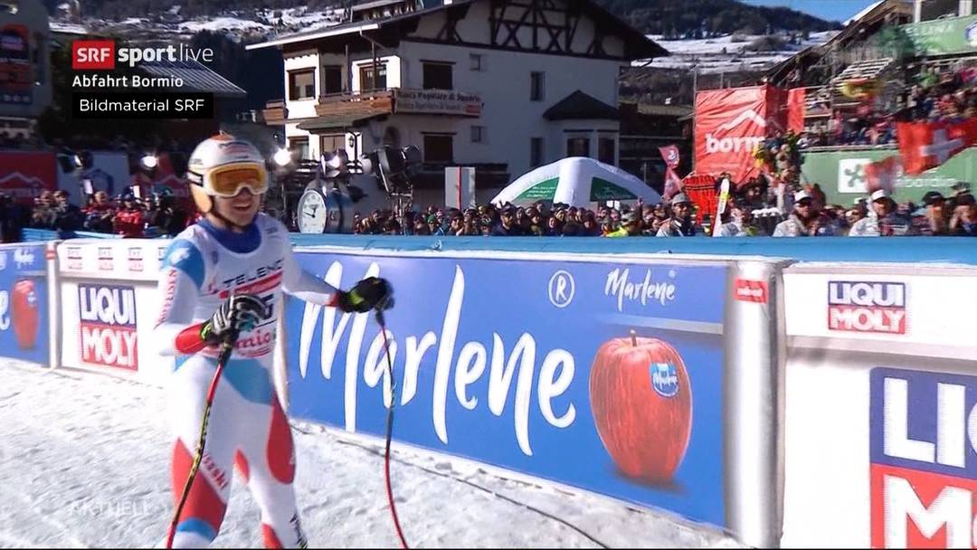 Sensationelle Abfahrt in Bormio: Kryenbühl fährt auf Platz 2