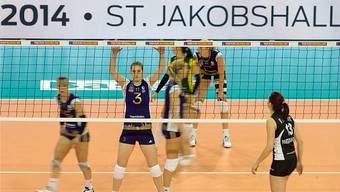 2014 waren sie noch in Basel: Top Volley in der St. Jakobshalle