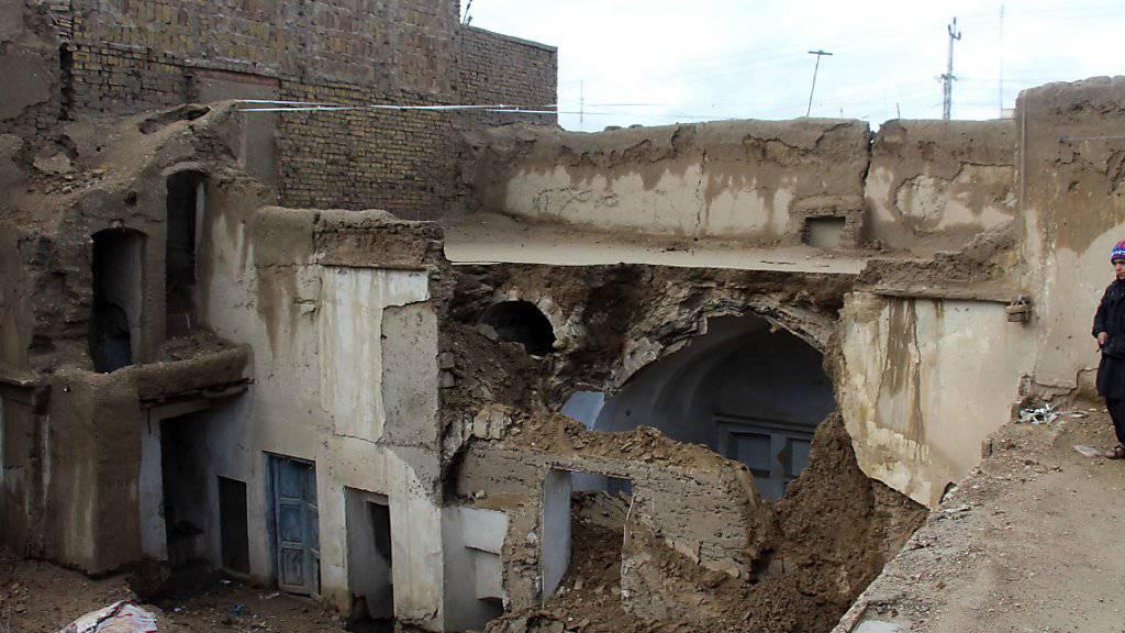 Bis zu 2000 Häuser zerstört: Bei starken Niederschlägen in der südafghanischen Provinz Kandahar sind zahlreiche Menschen ums Leben gekommen.