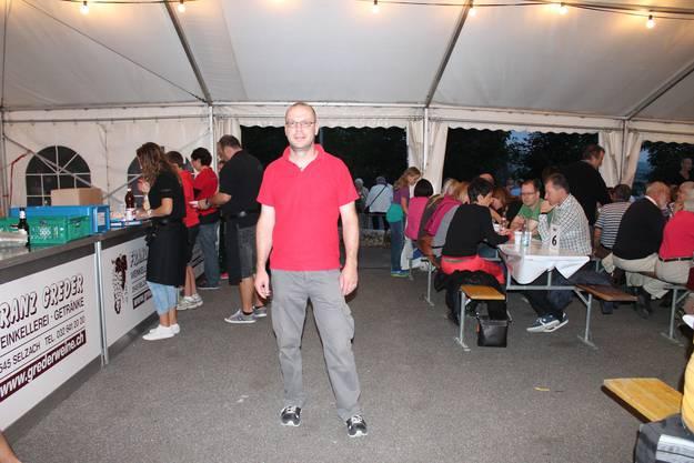 Präsident des Turnvereins Bettlach Niederhauser Martin findet das Zähnteschür-Fest eine gute Sache