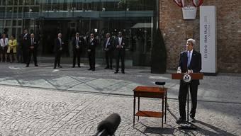 Das hätte auch in Genf sein können: US-Aussenminister John Kerry nach der Vertragsunterzeichnung in Wien.
