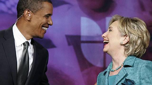 Gute Beziehung: Obama und Clinton