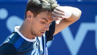 Ratlos: Henri Laaksonen findet gegen Albert Ramos-Viñolas kein Rezept