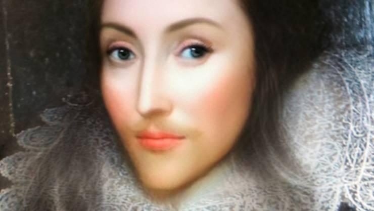 Shakespeare, mit der Messenger-App Snapchat zur Frau gemacht. (Montage)