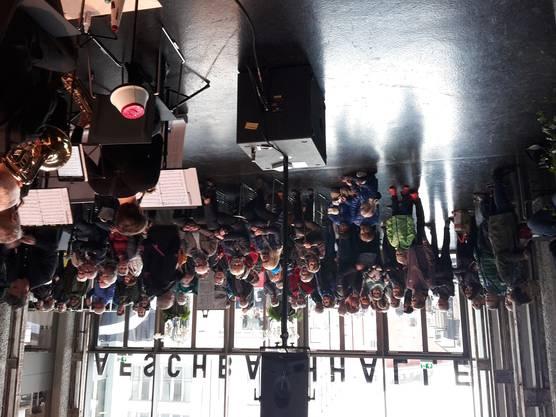 Die Bigband Aarau spielte in der neuen Aeschbachhalle