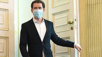 Sebastian Kurz (ÖVP), Bundeskanzler von Österreich, will mit Massentests das Virus in den Griff bekommen. Foto: Helmut Fohringer/APA/dpa