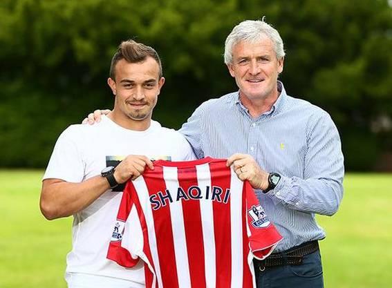 Xherdan Shaqiri ist sich mit Stoke City einig