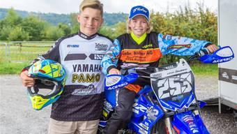 Noe Zumstein und Kevin Brumann trainieren mehr neben, als auf dem Motorrad.