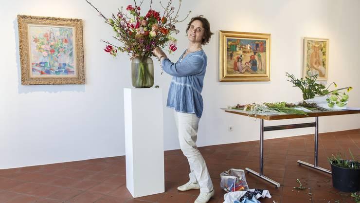 Heidi Bisang, Geschäftsführerin der Blumenbinderei Flores in Solothurn
