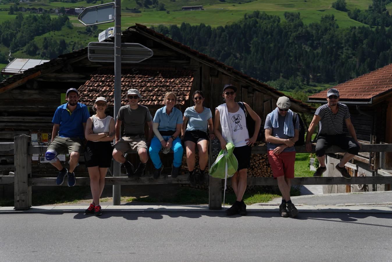 Die ganze Wandertruppe der siebten Etappe. (© Radio 24)