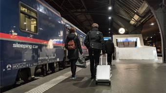 Nachtzugfahren soll konkurrenzfähiger werden, fordert der Bundesrat.Bild: KEY (Zürich, 19. November 2018)