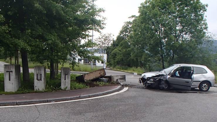 Turgi heisst seit dem Unfall nur noch «Tur».Kantonspolizei Aargau
