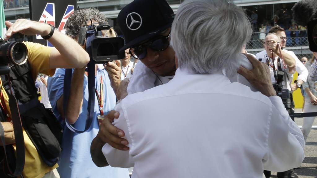 Die Beziehung zwischen Lewis Hamilton und Bernie Ecclestone war schon entspannter als im Moment