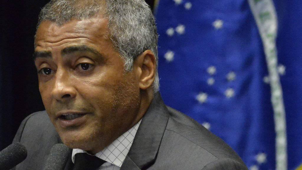 Vom Fussballfeld in die Politik: Der brasilianische Senator Romario strebt ins Bürgermeisteramt in Rio de Janeiro. (Archivbild)