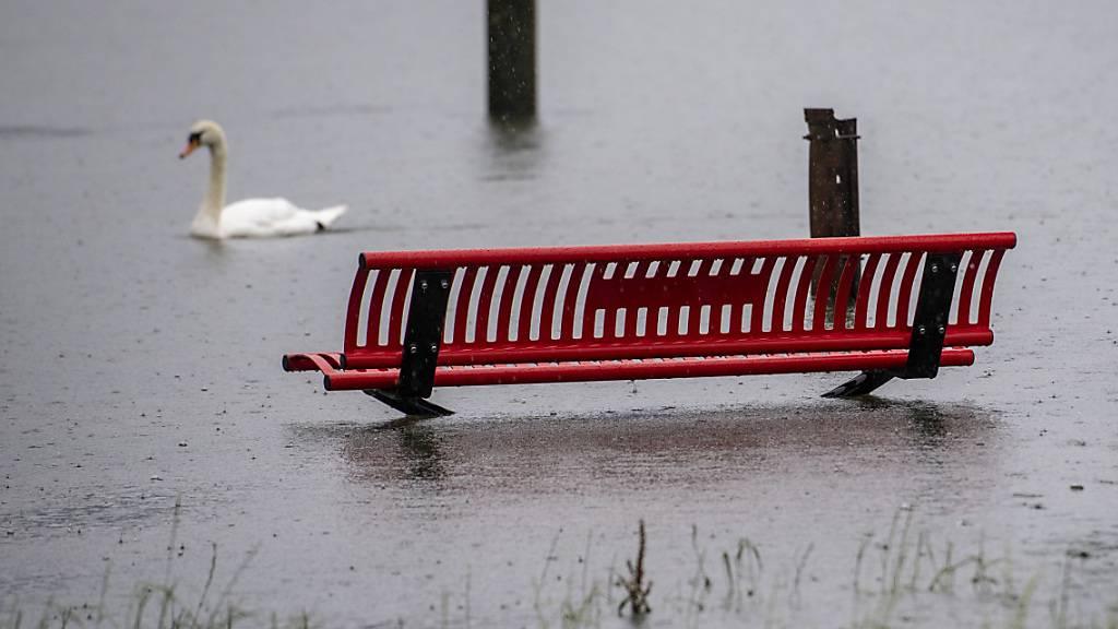 Wegen der Hochwasserlage bei Alpnach ist der Bahnverkehr im Kanton Obwalden nur eingeschränkt möglich. (Archivaufnahme)