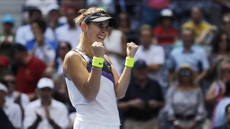 Belinda Bencic jubelt: Erstmals steht sie in einem Major-Halbfinal.