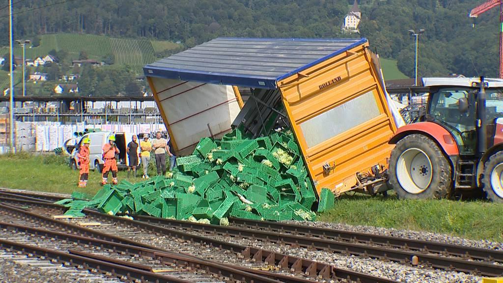 Blumenkohl blockiert Bahngleis – Strecke mehrere Stunden gesperrt