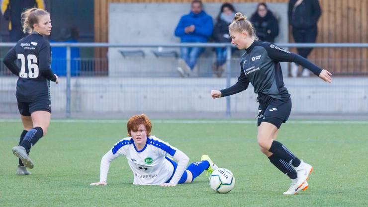 Die FCA-Frauen wollen St. Gallen morgen ein Bein stellen.