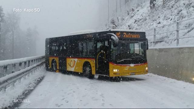Schnee-Chaos auf dem Passwang