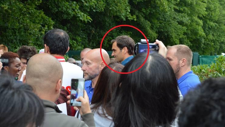 Roger Federer im Fokus der Fans.