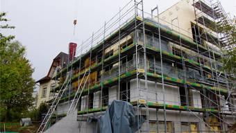 Das Gemeindehaus wird voraussichtlich im März 2018 bezugsbereit sein. kob