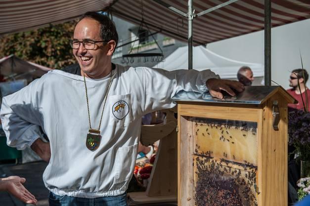 Viele Gäste interessierten sich für die Bienen der Bio-Imkerei