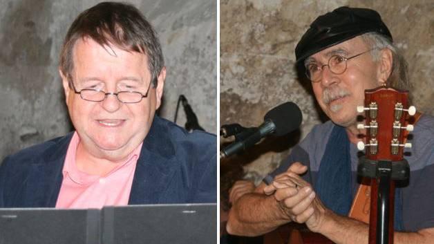 Namhafte Künstler gaben sich bei der Einweihung der Kaiserbühne die Ehre – Schaupieler Hanspeter Müller-Drossaart und Marco Zappa und unterhielten das Publikum.