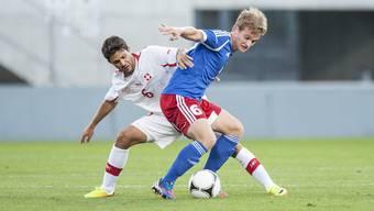 Oliver Buff (links) und seine Teamkollegen der U21-Nati waren in der Ukraine chancenlos.
