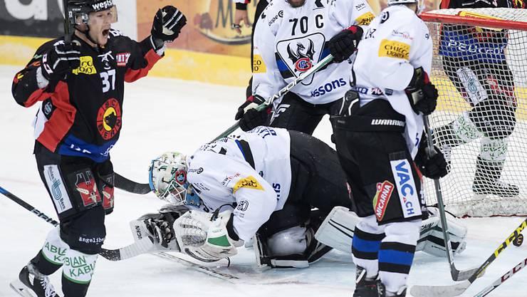 Mika Pyörälä schoss im November gegen Fribourg-Gottéron eines seiner vier Tore in der National League