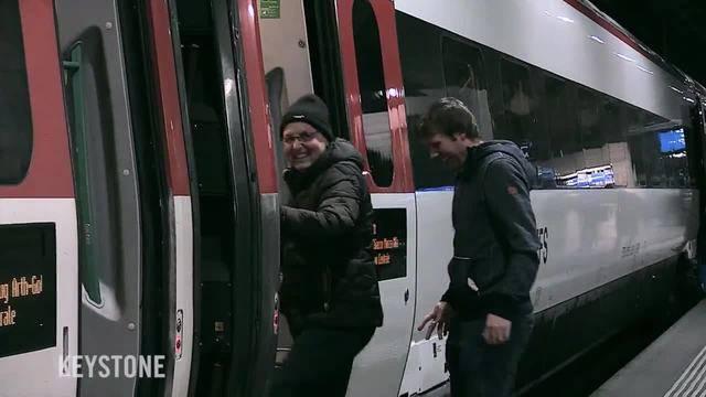 Jungfernfahrt durch den Gotthard-Basistunnel am 16. Dezember 2016